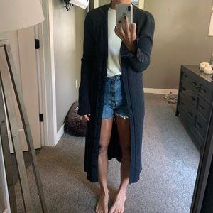 Zara navy cardigan S